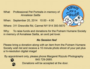 Paws for a Cause fundraiser