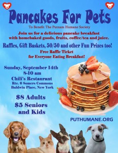 Pancakes for Pets Breakfast Poster 2014 copy