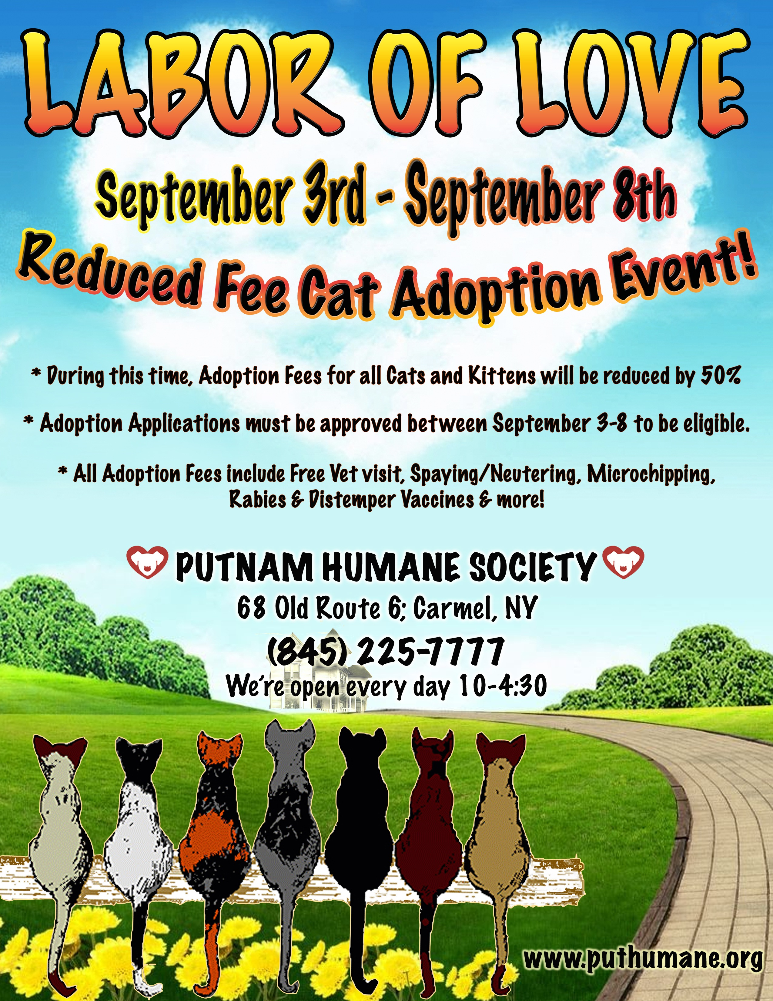 Upcoming Events Labor Of Love Reduced Fee Cat Amp Kitten