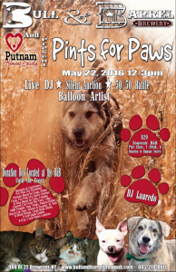 Pints for Paws at Bull & Barrel 2016